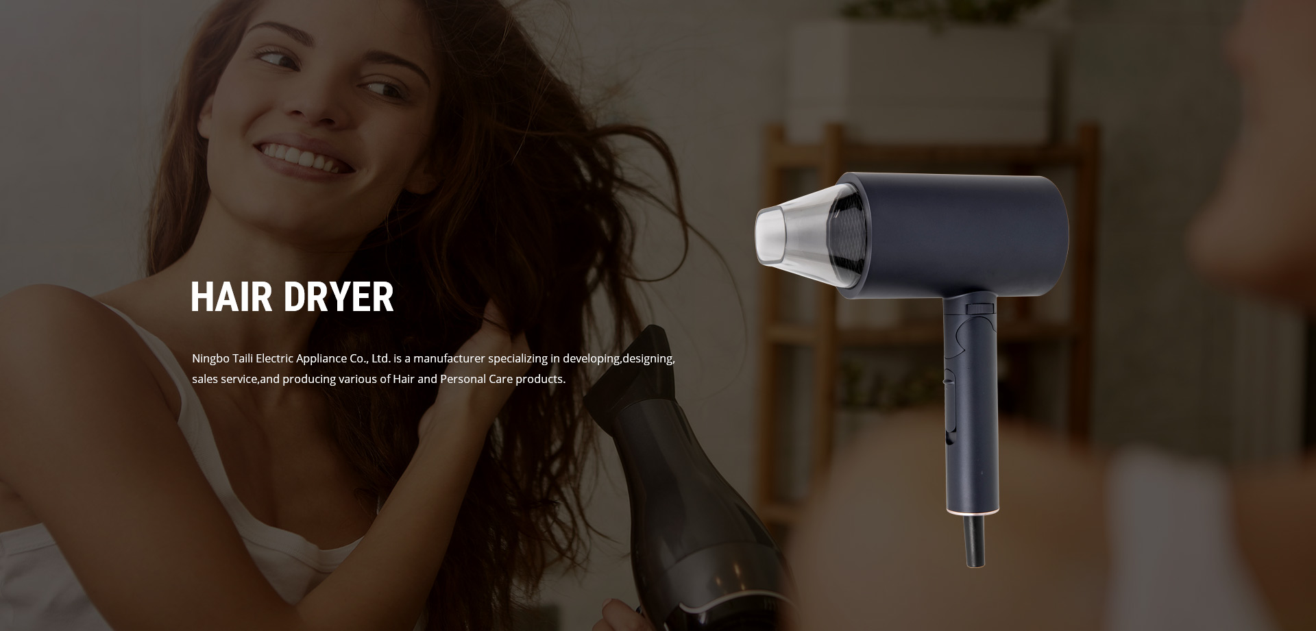 hair dryer products banner